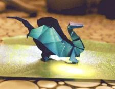 Як робити дракона орігамі