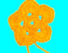 Як зв'язати квіточку гачком