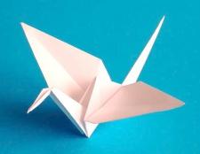 Як зробити журавля з паперу